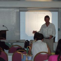 Irwin J. Shorr, MPH, MPS conducting a class